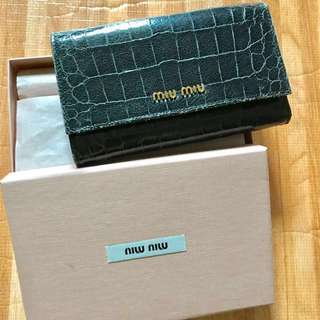 miu miu Navy Blue Wallet (Used) (miu miu 軍藍色銀包)