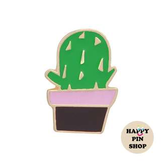 Triangle Spikes Fat Cactus Enamel Pin [CA10]