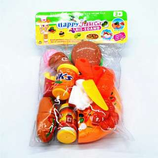 pizza and burger toy game