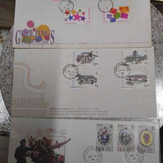 舊信封有郵票有印仔