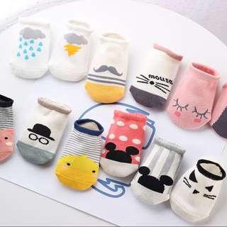 1 - Anti Slip / ankle socks / Baby Socks for 2-3 yo