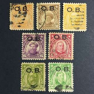 1931 US-Philippines Definitives Marked OB