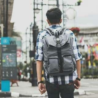 Kimmy Grey / Tas Pria Backpack