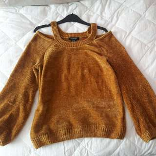 Mustard yellow soft knit sweater