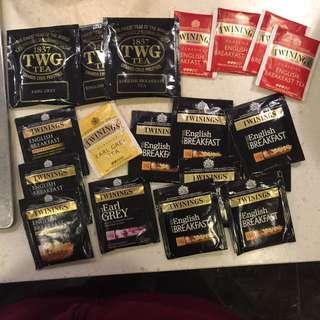 Twinings/ TWG tea bags (19 packs)