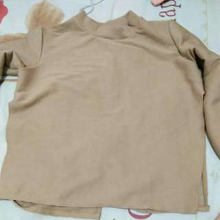 Sweater choco / knitted sweater backless