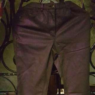 Shiny Deep Purple Pant