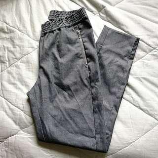 Grey jogger slacks | h&m