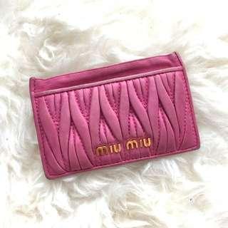 Pink/Plum Miumiu cardholder
