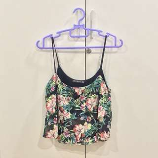 Bershka Floral Strappy Top