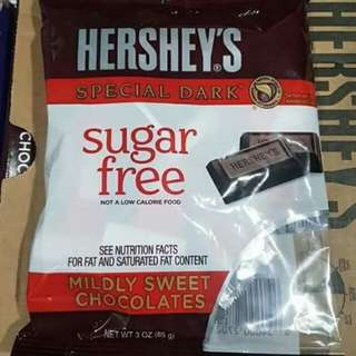 Hershey's Sugar Free Special Dark Mildly Sweet Chocolate