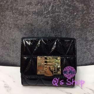 Michael kors  patent mini wallet