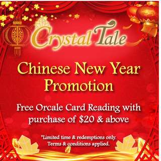 Crystal Tale - 2018 Chinese New Year Promotion! Free Reading with purchase!