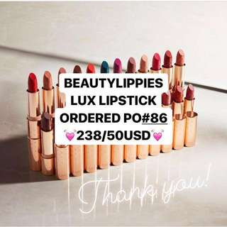 [ORDERED🎉, OPEN PO#87] COLOURPOP LUX LIPSTICK PREORDER PO THANK U💓