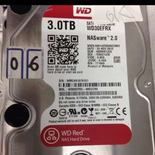 Wts wd 3tb red sata hdd $100 with warranty