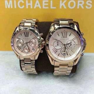 Authentic MK Bradshaw Chronograph Rose-Gold Tone watch (P2800 each if couple)