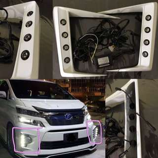 Vellfire fog lamp daylight cover
