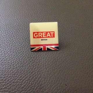 """Britannica: """"Great"""" Campaign Pin for British Trade"""