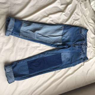 HIGHWAISTED BOYFRIEND JEANS SIZE 6
