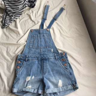 DENIM OVERALLS SIZE 6