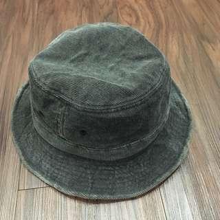 現貨灰色鐵絲可彎折造型燈芯絨行星款百搭漁夫帽