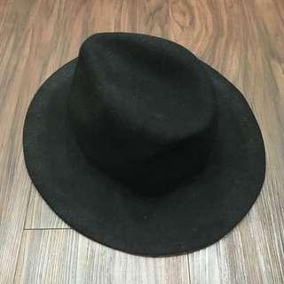 現貨大帽簷暗黑系必備黑色紳士帽