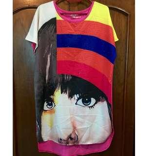 Colorful blouse / dress (M-L)