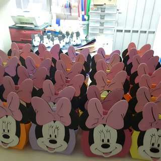 Mickey & minnie mouse party bags