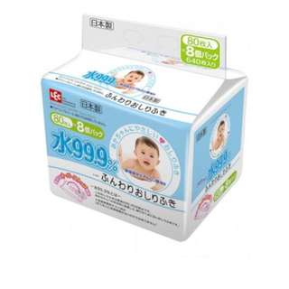 LEC 99.9% Pure Water Everyday (Blue)Baby Wipes (