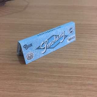 西班牙 Smoking 煙紙 Blue 慢燃 60leaves (4入)