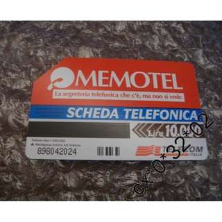 意大利電信 Telecom Italia 磁帶式 儲值 電話卡 *包本地平郵