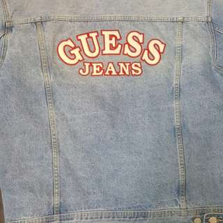 Oversized guess denim hacket