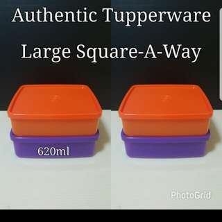 Authentic Tupperware  Large Square-A-Way 620ml  Retail Price S$9.30 《Now S$7.00/Piece》 tw
