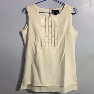 Taylor and Company Sleeveless Top in White