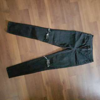 Black Buffalo Jeans With Knee Rips