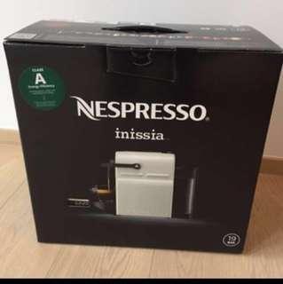 全新 雀巢膠囊咖啡機 白色 Coffee Machine Nespresso inissia