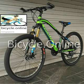 """26"""" LT MTB / Mountain Bike*Brand New Dkaln Bicycle ✩ 24 Speeds, front suspension, Disc brakes"""