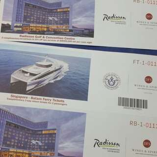 Batam ferry and hotel ticket