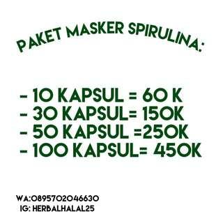 Masker wajah spirulina 100% original