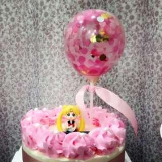Balloon Cake Topper / Flag