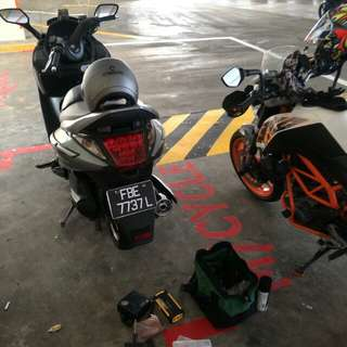 "Bike Been Rescue (Sym Gts 200)            Location: Bedok North                  Time: 12.41pm (Afternoon)                     Date: 8 Feb 18                 Cause: Tyre Worming                 ""Kureiji Response Team""      Emergency Service"