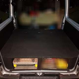 USED HIACE rear deck storage