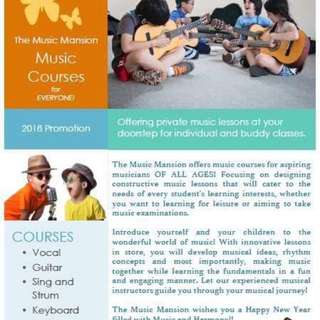 music courses for aspiring musicians OF ALL AGES!
