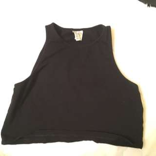 H&M Black Crop Tank