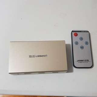 3 input 1 output HDMI switch