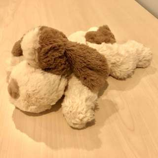 Heatable soft toy puppy
