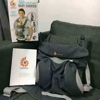 Ergobaby 4 position 360 Baby Carrier - Cool Air Carbon Grey