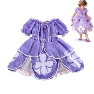 Baby Kids Sofia Costume Party Fancy Dress