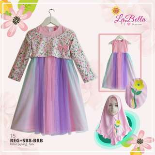 1 swt dress tutu muslim anak