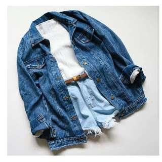 RESTOCK Geisha oversize jaket jeans
